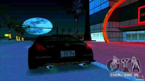 Nissan 350Z JDM para GTA San Andreas vista inferior