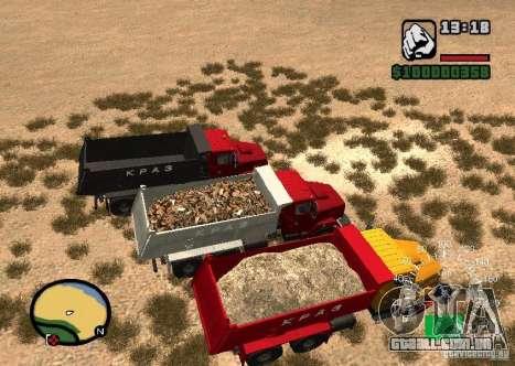 KrAZ 65055 caminhão para GTA San Andreas vista direita