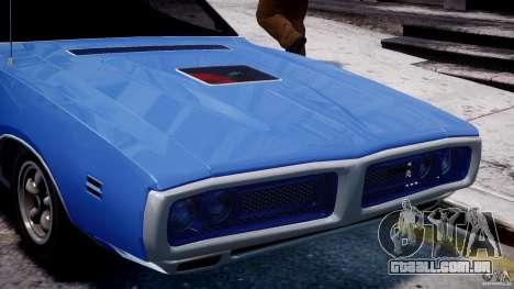 Dodge Charger RT 1971 v1.0 para GTA 4 vista inferior