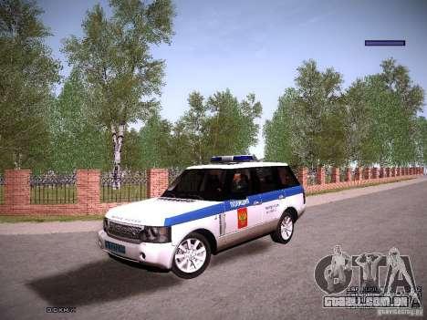 Range Rover Supercharged 2008 polícia departamen para GTA San Andreas