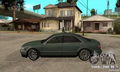 Audi A8 Long 6.0 2000 para GTA San Andreas esquerda vista