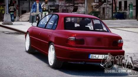 Opel Omega 1996 V2.0 First Public para GTA 4 traseira esquerda vista