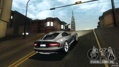 Dodge SRT Viper GTS 2012 V1.0 para GTA San Andreas vista traseira
