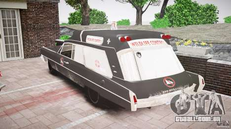 Cadillac Wildlife Control para GTA 4 vista de volta