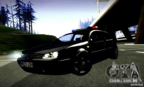 Volkswagen Golf Police para GTA San Andreas vista direita
