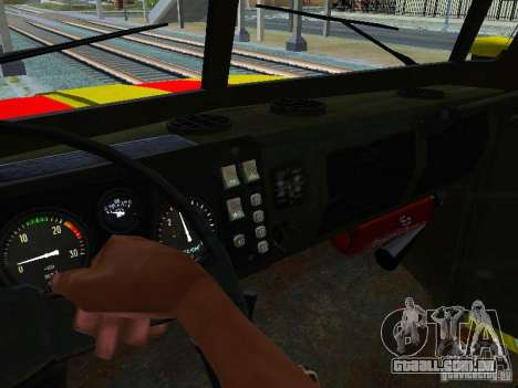 Ural 4320 GORSVET para vista lateral GTA San Andreas