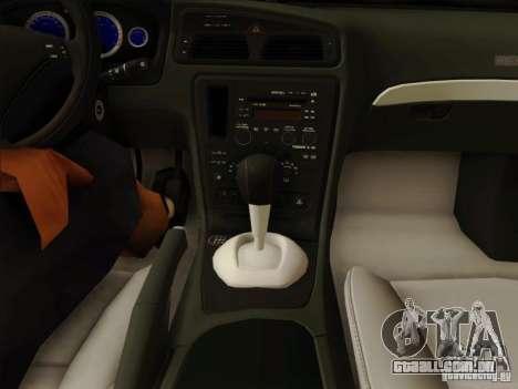Volvo S60 para GTA San Andreas vista inferior