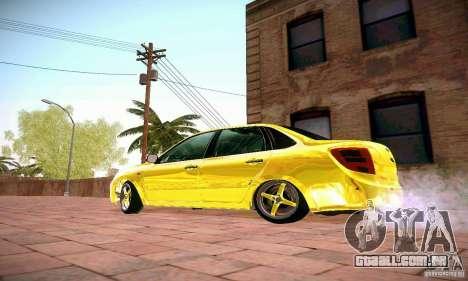 Lada Grant ouro para GTA San Andreas esquerda vista