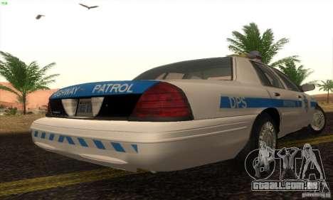 Ford Crown Victoria Arizona Police para GTA San Andreas esquerda vista