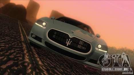 Maserati Quattroporte Sport GT V1.0 para GTA San Andreas traseira esquerda vista