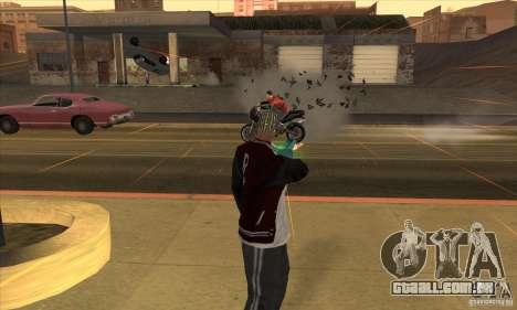 GraviPuška para GTA San Andreas por diante tela