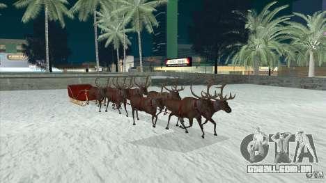 É que a equipe do Papai Noel para GTA San Andreas vista traseira