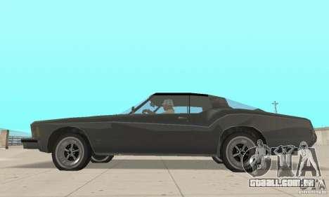 Buick Riviera 1973 para GTA San Andreas traseira esquerda vista