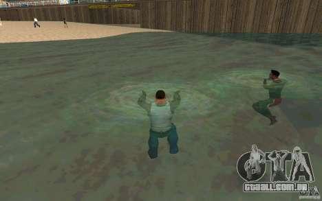 As pessoas são capazes de nadar para GTA San Andreas