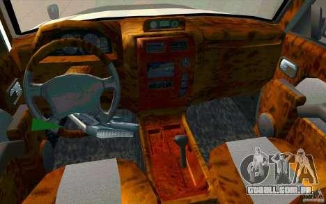 Toyota Land Cruiser Prado para GTA San Andreas vista superior