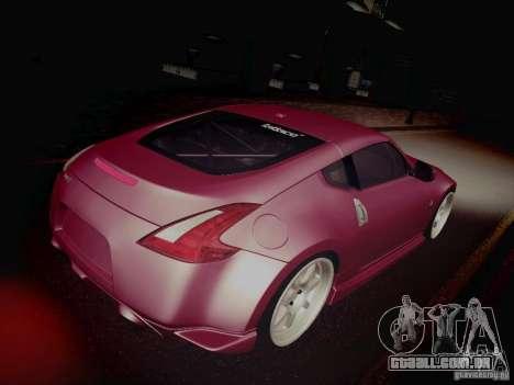 Nissan 370Z Fatlace para vista lateral GTA San Andreas