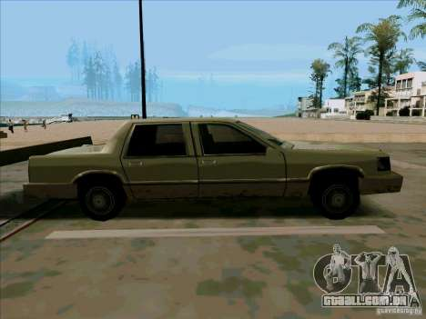 Uma limusine curta para GTA San Andreas vista traseira