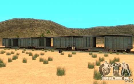 San Andreas Beta Train Mod para GTA San Andreas traseira esquerda vista