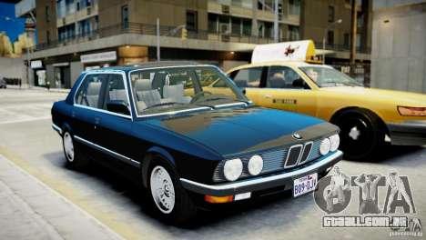 BMW 535 E28 para GTA 4 esquerda vista