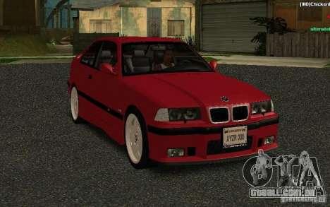 BMW E36 M3 1997 Coupe Forza para GTA San Andreas vista traseira