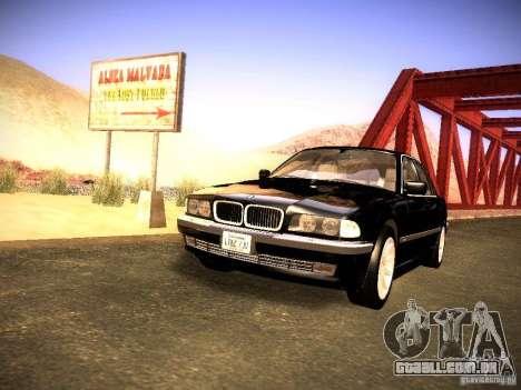 BMW 730i e38 1997 para GTA San Andreas vista direita