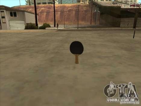 Raquete de tênis para GTA San Andreas terceira tela