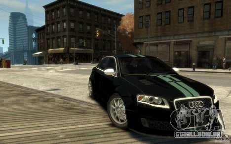 Audi RS4 para GTA 4 vista de volta