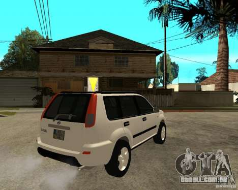 NISSAN X-TRAIL 2001 para GTA San Andreas traseira esquerda vista