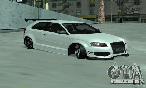Audi S3 Full tunable para GTA San Andreas esquerda vista