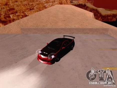 Acura RSX Drift para GTA San Andreas vista traseira