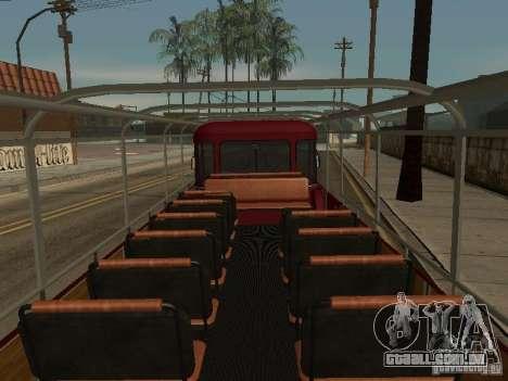LIAZ 677 excursão para GTA San Andreas vista interior