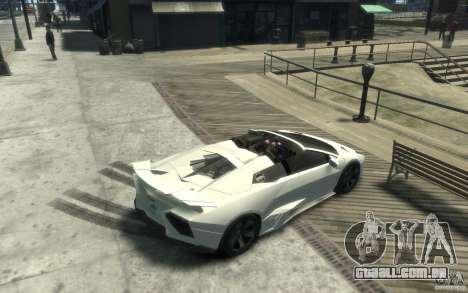 Lamborghini Reventon Roadster REDUX [EPM] para GTA 4 vista direita