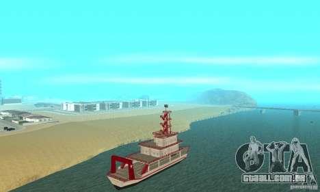 Vice City Ferryboat para GTA San Andreas traseira esquerda vista
