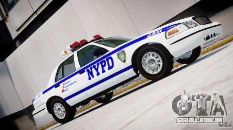 Ford Crown Victoria NYPD para GTA 4 esquerda vista