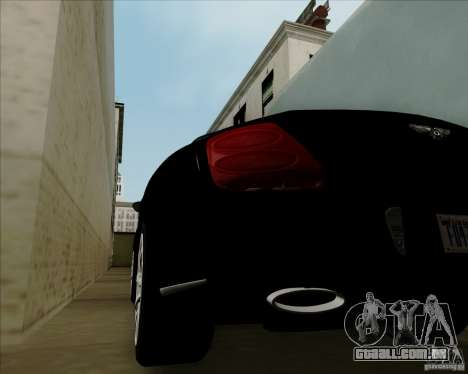 Bentley Continental GT V1.0 para GTA San Andreas vista interior