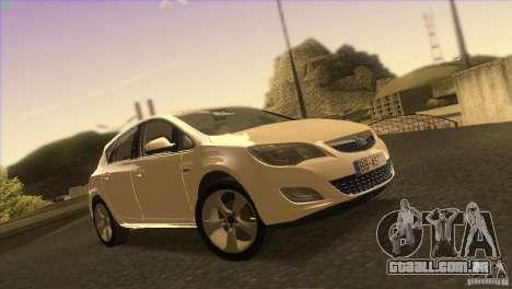 Opel Astra 2010 para GTA San Andreas vista inferior