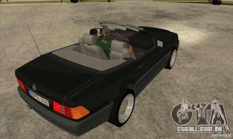 Mercedes SL-class 1995 para GTA San Andreas vista direita