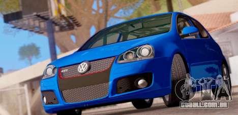 VW Golf V GTI 2006 para GTA San Andreas traseira esquerda vista