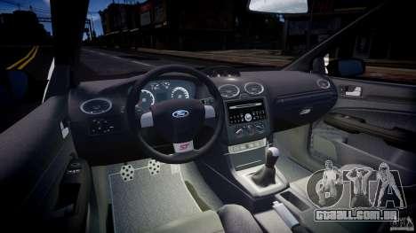 Ford Focus ST MkII 2005 para GTA 4 vista de volta