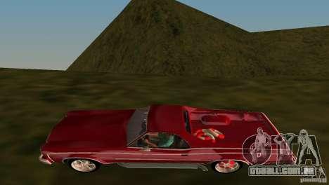 Chevrolet El Camino Idaho para GTA Vice City vista interior