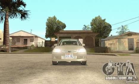 Honda Civic 1998 para GTA San Andreas vista interior