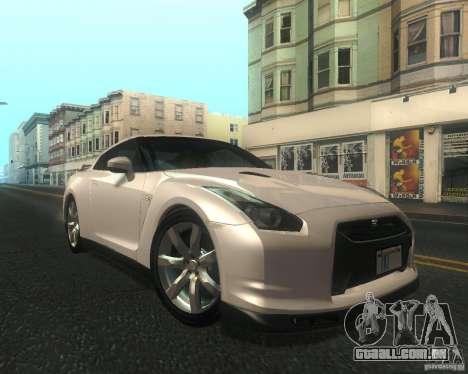 Nissan GTR R35 Spec-V 2010 Stock Wheels para GTA San Andreas vista interior