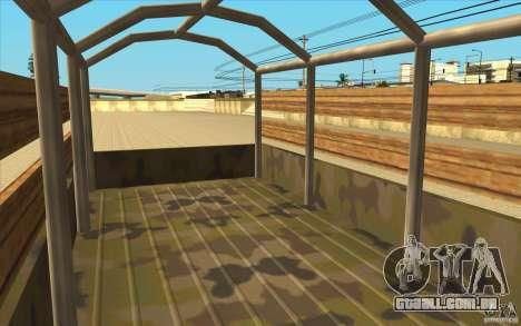 IFA 6x6 Army Truck para GTA San Andreas vista traseira