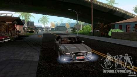 Audi S8 2012 para GTA San Andreas esquerda vista