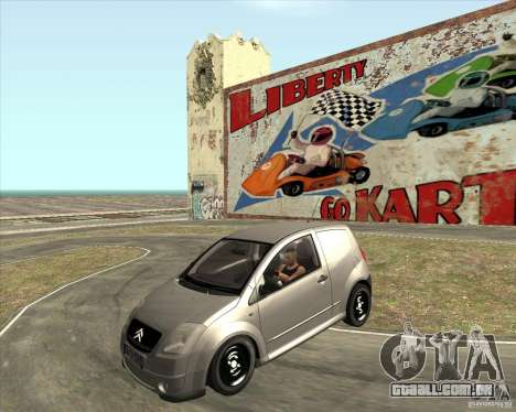 Citroen C2 workers car para GTA San Andreas vista direita