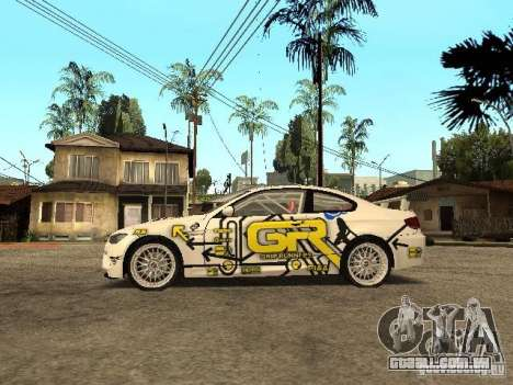 BMW M3 E92 Grip King para GTA San Andreas esquerda vista