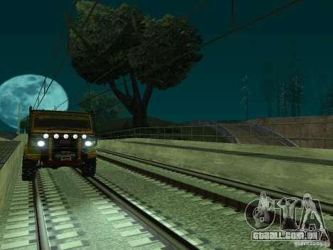Linha ferroviária de alta velocidade para GTA San Andreas oitavo tela