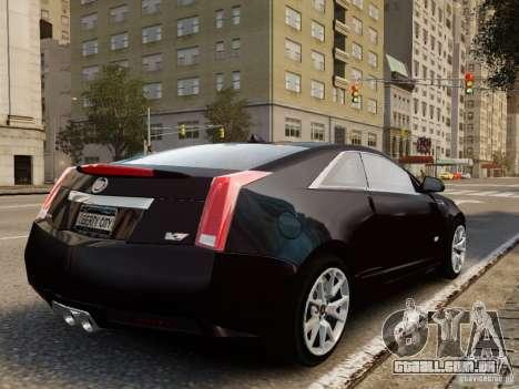 Cadillac CTS-V Coupe 2011 para GTA 4 esquerda vista
