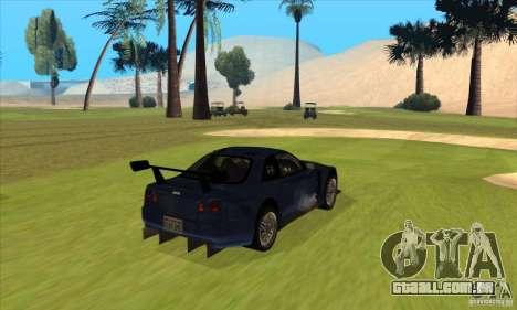 Nissan Skyline R34 GT-R LM para GTA San Andreas vista direita