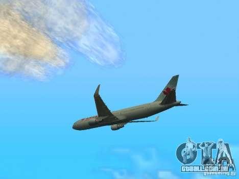 Boeing 767-300 Air Canada para GTA San Andreas traseira esquerda vista